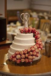 5-stöckige Hochzeitstorte